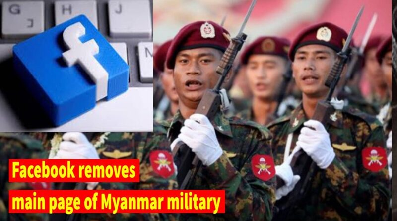 Facebook Removes Myanmar Army's Facebook Page